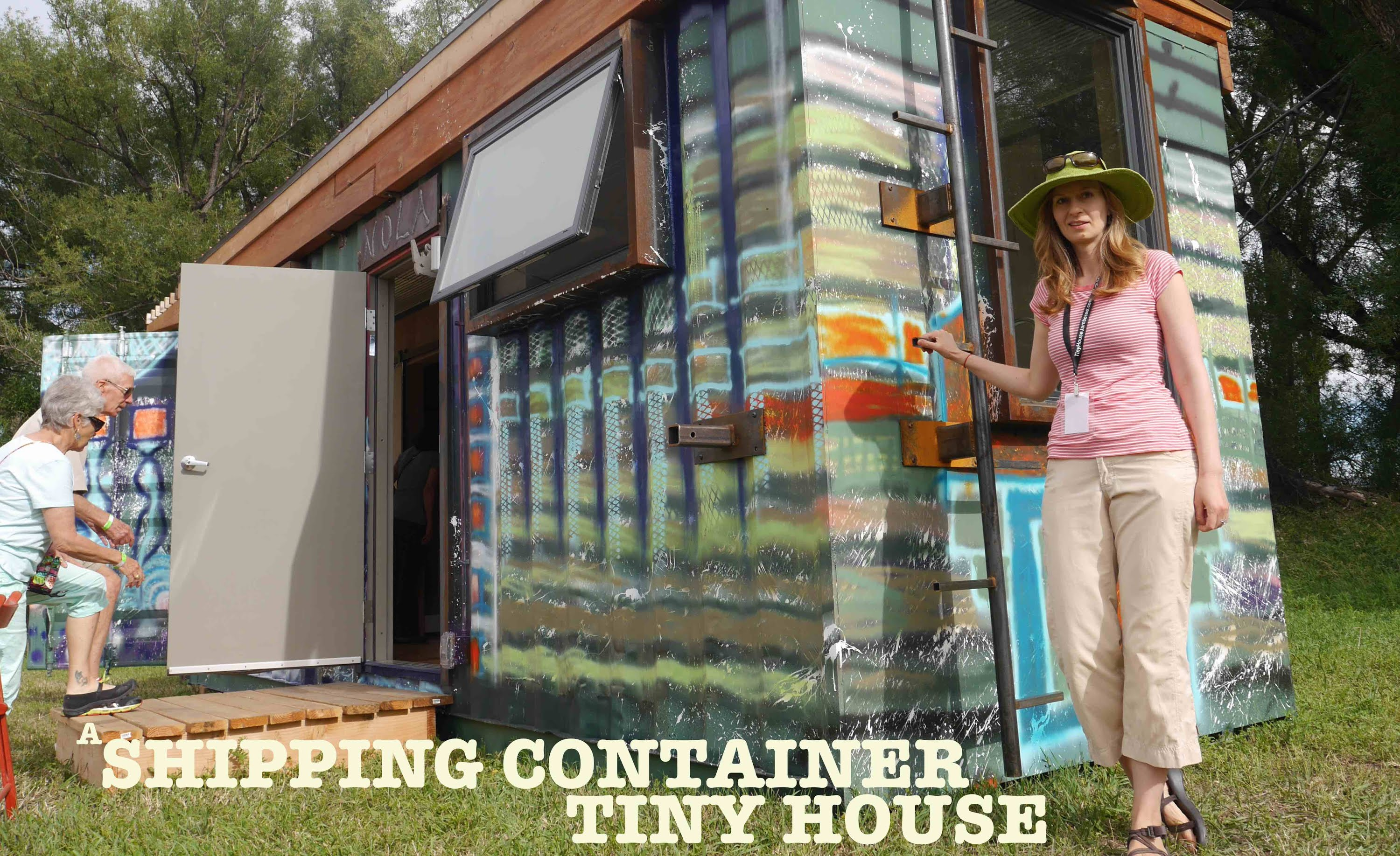 "A Punk Rock Shipping Container Tiny House ""Rhino Cubed"""