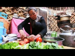 CHINESE YURT CAMPING – INCREDIBLE Tiny House Yurt FOOD In NEVER-SEEN China! SILK ROAD Street Food!