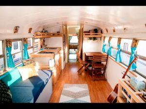 'HOW WE ROLL' Awesome Converted School Bus Home Tour
