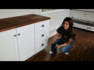 How To Make Kitchen Cabinets With Tiny House Kitchen Tour: Ana White Tiny House Build [Episode 14]